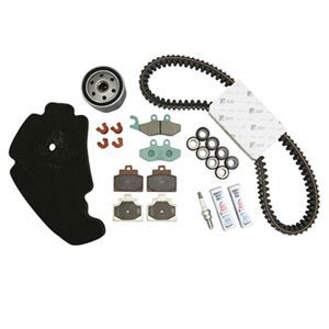 KIT ENTRETIEN MAXISCOOTER ORIGINE PIAGGIO 500 MP3 ABS 2014>2017 (AVEC GUIDES VARIATEUR)  -1R000375-